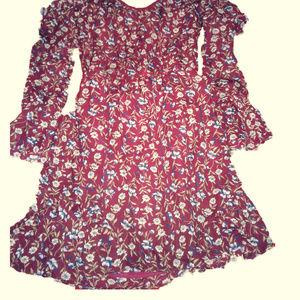 Women's Violet Criss Cross Dress Small